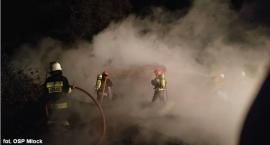 Trzy zastępy strażaków walczyły z pożarem niedaleko Ciechanowa (zdjęcia)