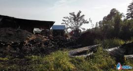 Pożar przy tartaku w Gumowie (zdjęcia)