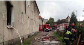 Pożar w bloku na ul. 17 Stycznia (zdjęcia)