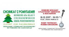 Konkursy na tegorocznym Jarmarku Bożonarodzeniowym w Ciechanowie