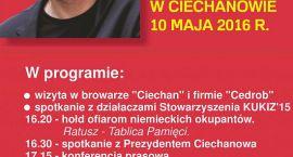 Paweł Kukiz i posłowie z jego ruchu odwiedzą Ciechanów. Spotkają się m.in. z mieszkańcami