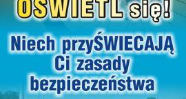 """Lampki i odblaski zamiast mandatów. W Ciechanowie rusza akcja """"Rowerzysto, oświetl się!"""""""
